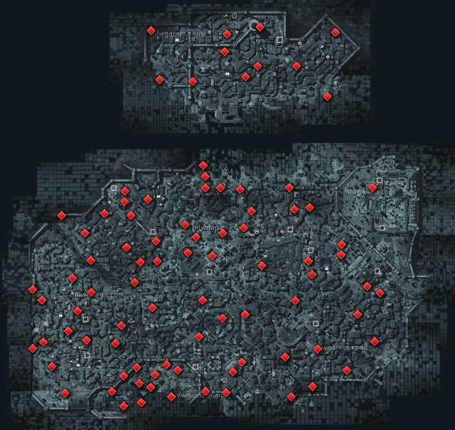 Animus Data Fragments Location Map