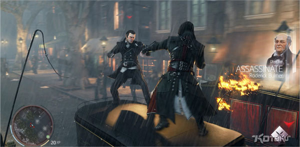 Assassins Creed Victory riding a stagecoach