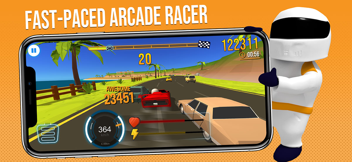 Fast paced arcade racing