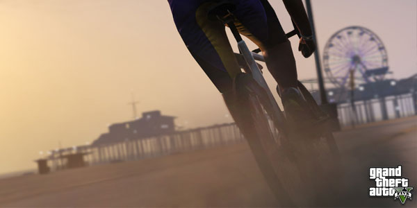 GTA 5 - riding a bike