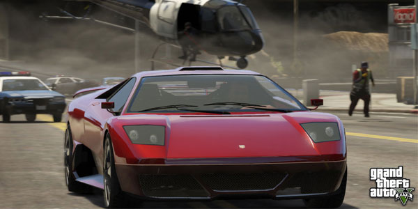 GTA 5 Fast cars and laser sights on guns