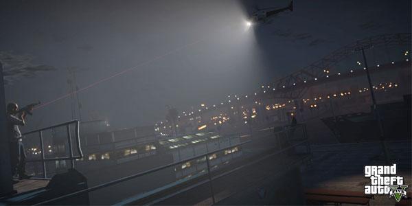 GTA 5 Night time police chopper